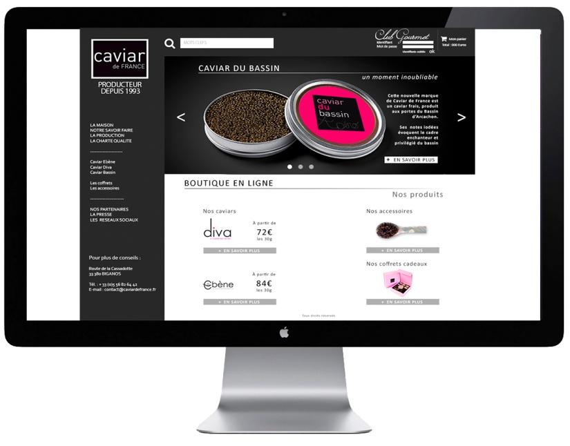 Réalisation d'un gabarit pour un site e-commerce.